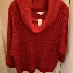 Sparkling Red sweater, great for holidays!